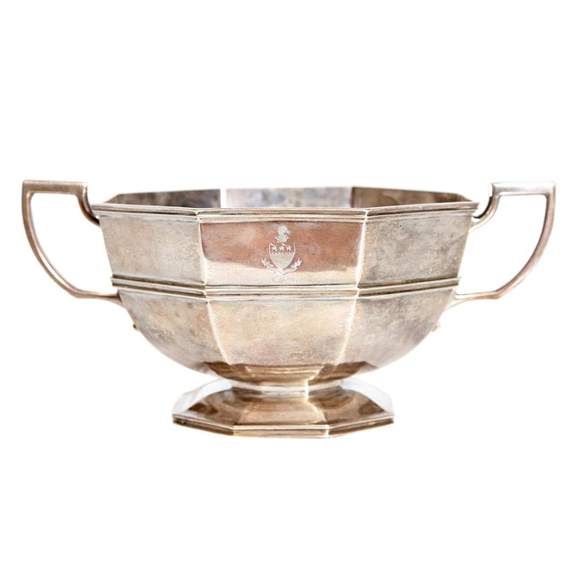 Amorial Silver Pedestal Bowl / Cup by C. C. Pilling for Tiffany & Co. For Sale - Image 11 of 11
