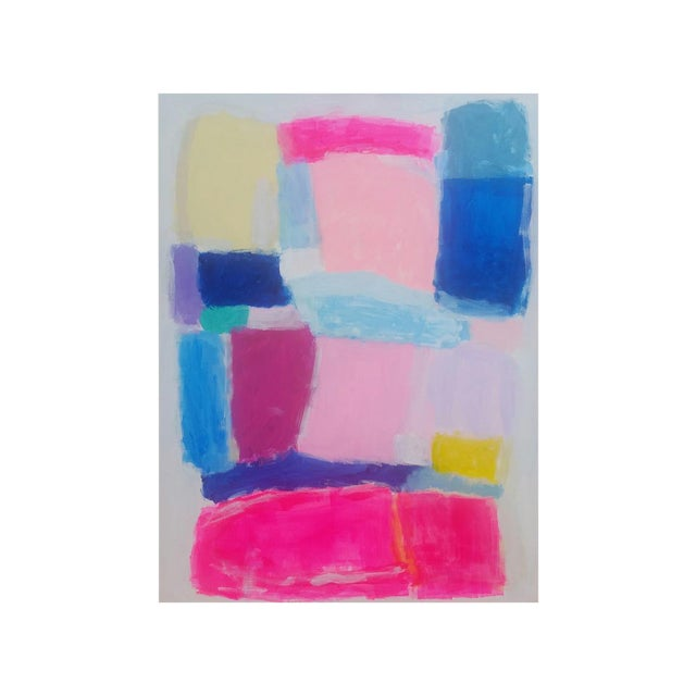 Susie Kate Colorful, Original Abstract Painting - Image 1 of 3