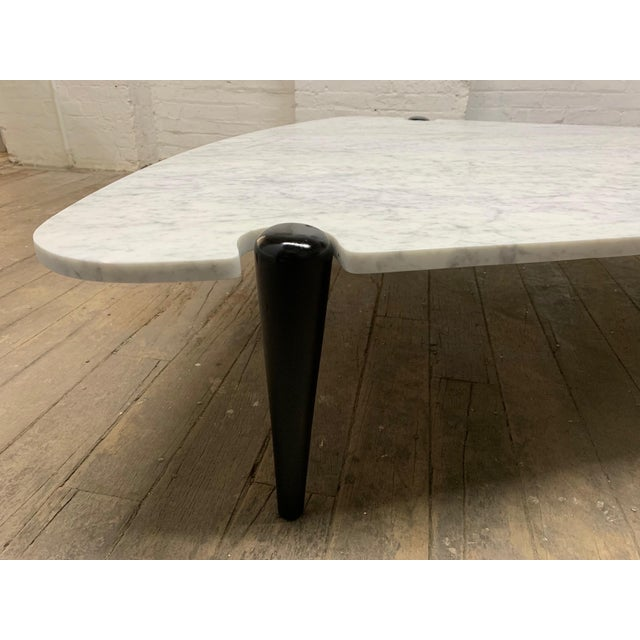 1960s Sculptural Carrara Marble Top Coffee Table For Sale In New York - Image 6 of 9