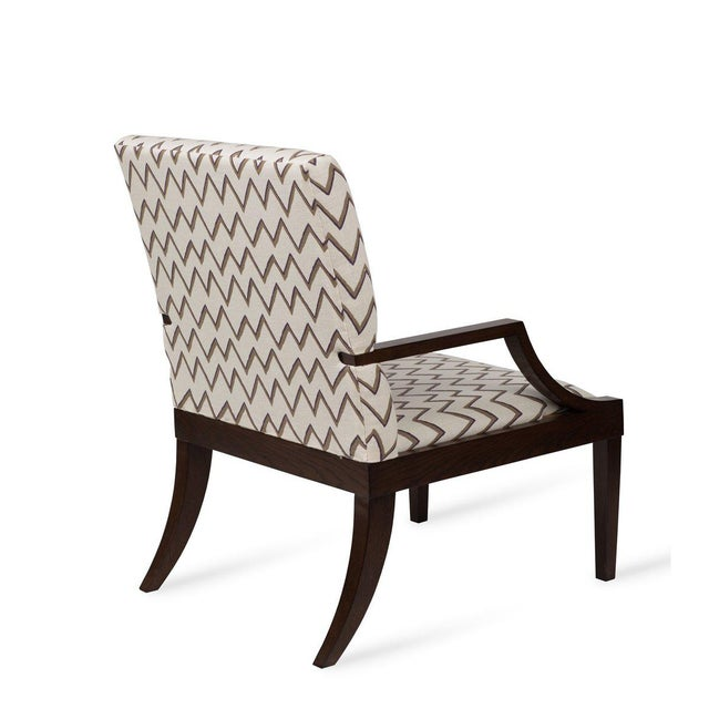The Lounge Lizard Chair in Zig Zag Taupe Violet For Sale - Image 4 of 5