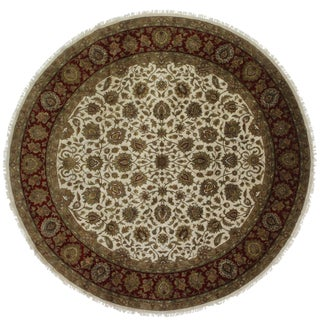 RugsinDallas 12 Feet Round Persian Style Hand Knotted Wool Rug - 12' X 12' For Sale