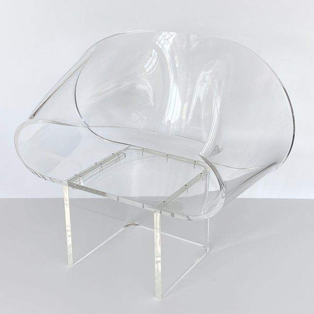 1970s Robert Van Horn Lucite Ribbon Lounge Chair, Signed For Sale In Chicago - Image 6 of 13