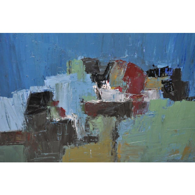 Abstract Mid Century Modern Abstract Masterpiece by R. Neeley c.1960 For Sale - Image 3 of 10