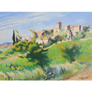 French Countryside Landscape Oil Painting - Hillside in Provence For Sale