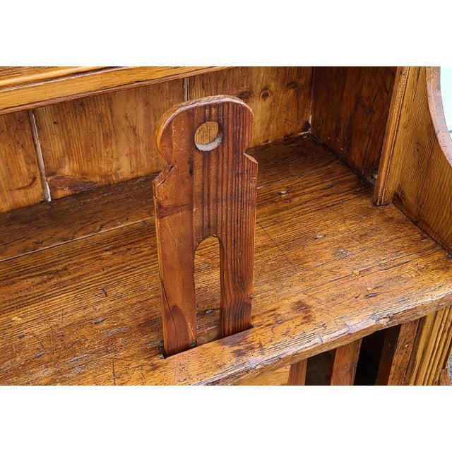 Antique 19th Century Irish Pine 2 Part Chicken Coop Cupboard Cabinet Hutch For Sale - Image 11 of 13