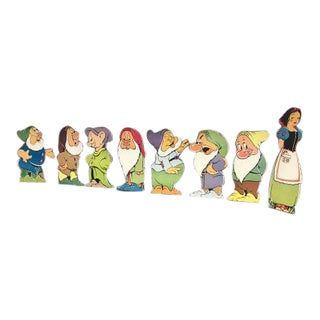 1937 Snow White & The Seven Dwarves Theater Cardboard Cut Outs - Set of 8