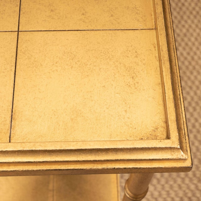 Gold Console Table For Sale - Image 9 of 10