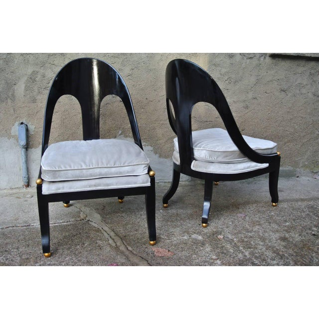 Mid-Century Modern Pr. Neoclassic Chairs by Michael Taylor for Baker For Sale - Image 3 of 10