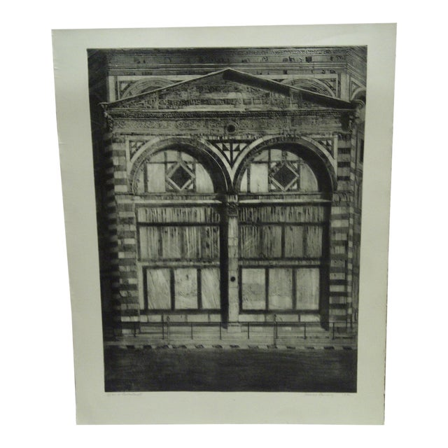 Limited Edition Signed Print Il Battistero Ii Frances Lansery For Sale