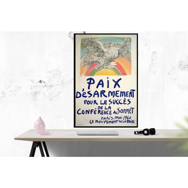 Paix Disarmement-Peace by Pablo Picasso, Unsigned 1960 Lithograph, edition size of 2500.47 x 31.5 inches