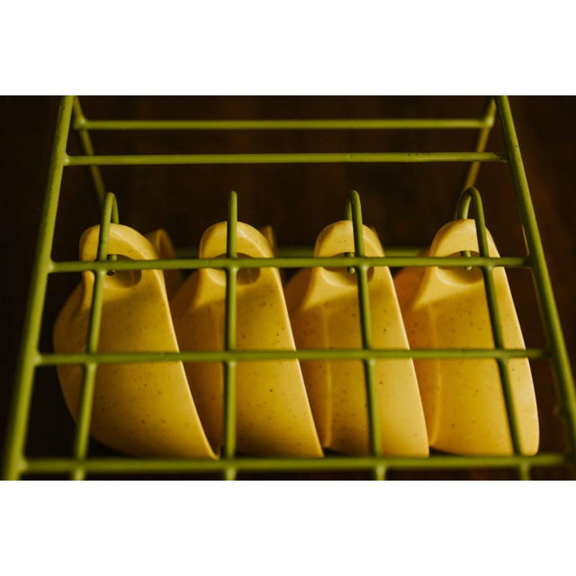 Holiday by Kenro Yellow Cups and Saucers - Set of 10 For Sale - Image 6 of 10