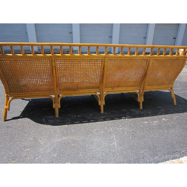 Asian Cane & Rattan Asian Style Sofa For Sale - Image 3 of 6