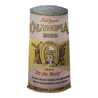 1950s Hand-Painted Olympia Beer Advertising Sign For Sale