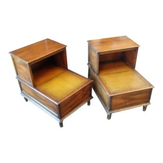 "1940s Federal Kittinger ""Craftop"" Step Tables - a Pair For Sale"