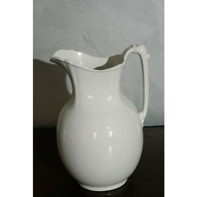 White 19th Century English White Ironstone Pitchers - Individual For Sale - Image 8 of 9