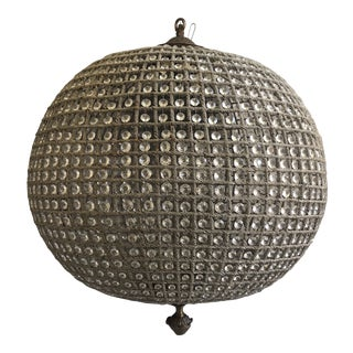 Crystal Sphere Orb Chandelier For Sale