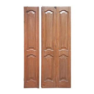 Antique Mahogany Folding Door
