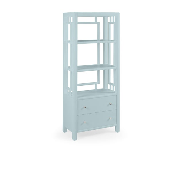 Transitional Devon Bookcase, Palladian Blue For Sale - Image 3 of 3