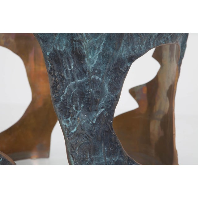 Willy Ceysens Coffee Table in Solid Bronze & Glass For Sale - Image 6 of 8
