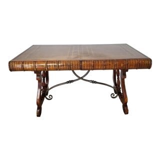 Theodore Alexander English Style Sculptural Book Shaped Desk . For Sale