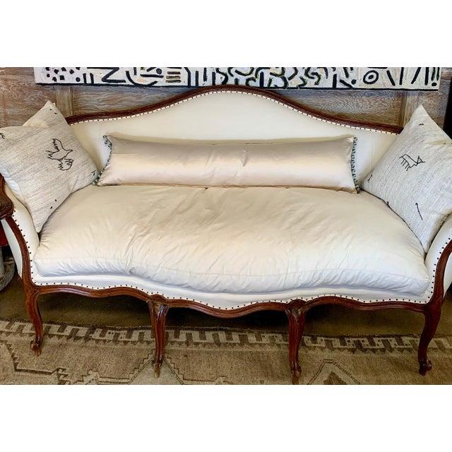 Sora Velvet Lumbar Pillow With Ivory Silk Back For Sale - Image 9 of 10