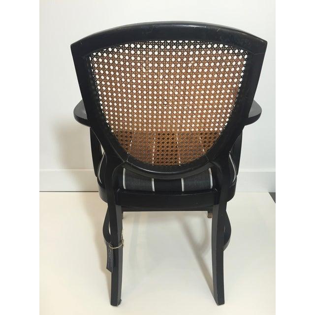 Hepplewhite Style Ebony Chinoiserie Chair - Image 5 of 10