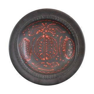 Sascha Brastoff Red on Black Bowl For Sale