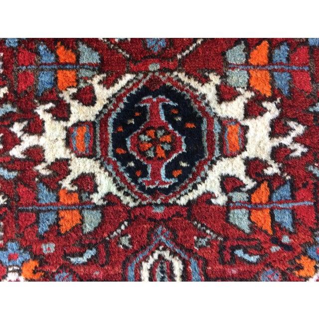 Blue 1930s-1940s Karaja Persian Mat For Sale - Image 8 of 13