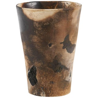 Fire-Smoked Ceramic Pottery From Ryan McDonald Vase #1 For Sale