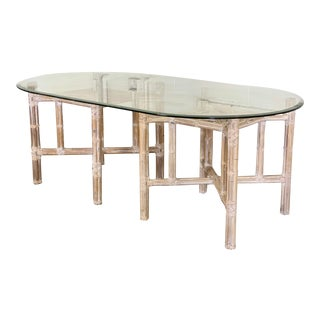 2000s Organic Modern McGuire Style Bamboo Dining Table For Sale