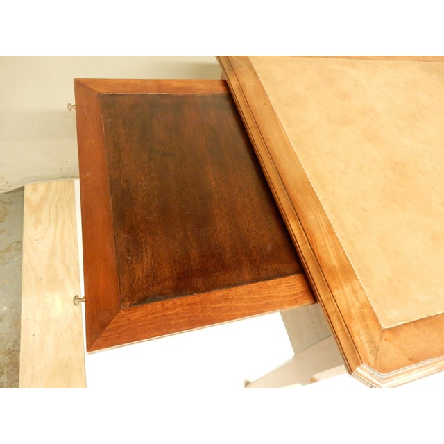 19th Century 19th Century French Walnut and Leather Top Desk For Sale - Image 5 of 9