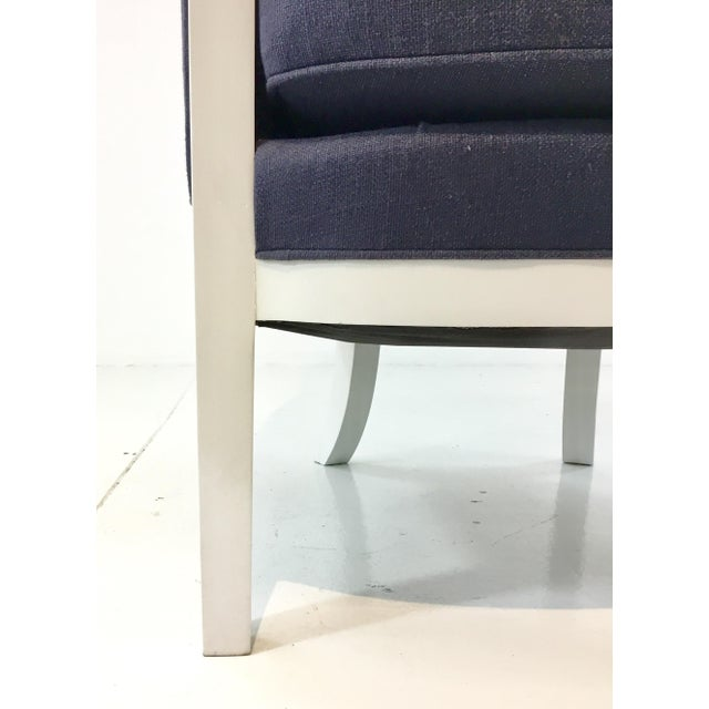 Traditional Transitional Navy and White Hickory Chair Breck Chair For Sale - Image 3 of 6