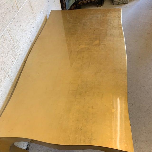Alden Parkes Gold Bronze Leaf Chantal Cocktail Table For Sale - Image 11 of 12