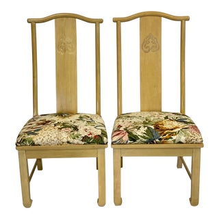 Vintage Ming Inspired Bernhardt Dining Chairs - Pair For Sale