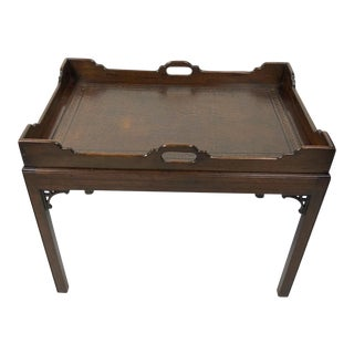 1920s English Mahogany Coffee Table For Sale