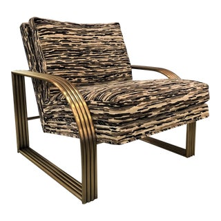 Thayer Coggin for Milo Baughman Upholstered Lounge Chair For Sale