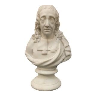 19th Century Antique Parian Scholar Bust Statuette For Sale