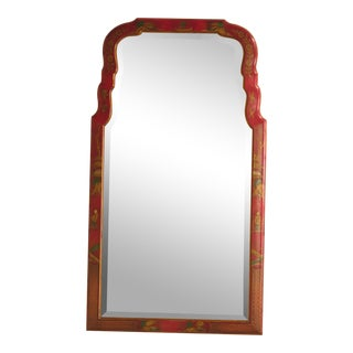 Friedman Brothers #4222 Coalsworth Red Chinoiserie Mirror
