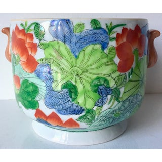 Vintage Chinoiserie Hand-Painted Cachepot Preview
