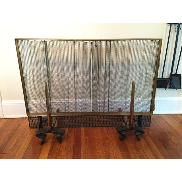 Lodge Donald Deskey for Bennett Fireplace Set For Sale - Image 3 of 6