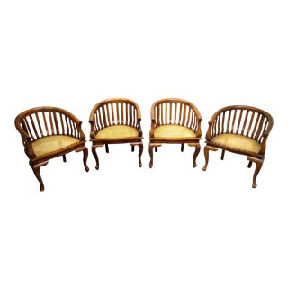 Bauer Barrel Chairs - Set of 4 For Sale