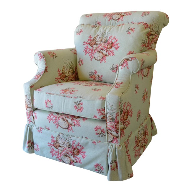Scalamandre Chintz Upholstered Club Chair - Image 1 of 6