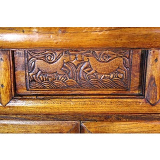 Antique Chinese Carved Teak Cabinet Preview