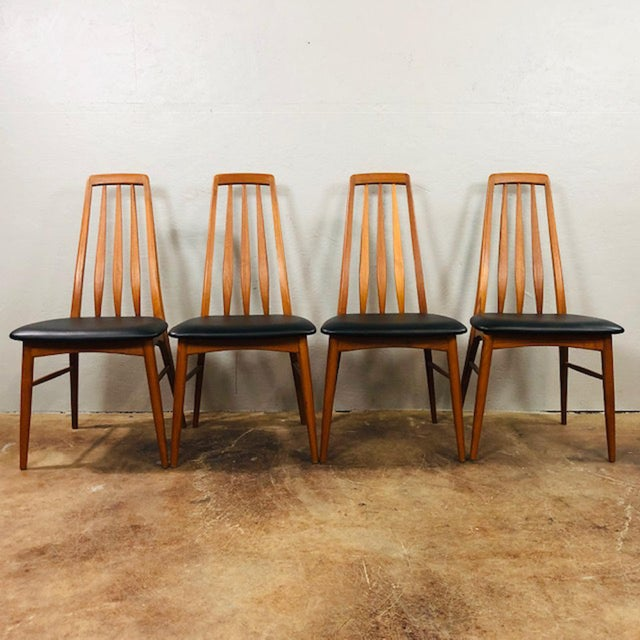 1960s Niels Koefoed Teak and Black Leather Dining Chairs - Set of 4 For Sale - Image 10 of 10