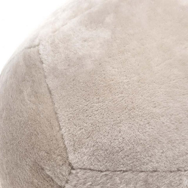 Shearling Ottoman in Dune Sheepskin by Moses Nadel For Sale In New York - Image 6 of 7