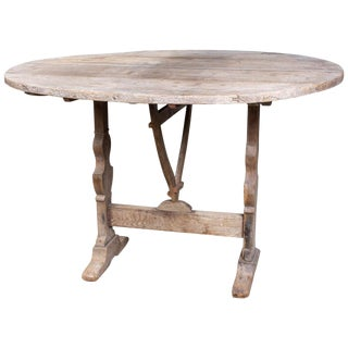 "Bleached Antique French ""Vendage"" Wine Harvest Table For Sale"