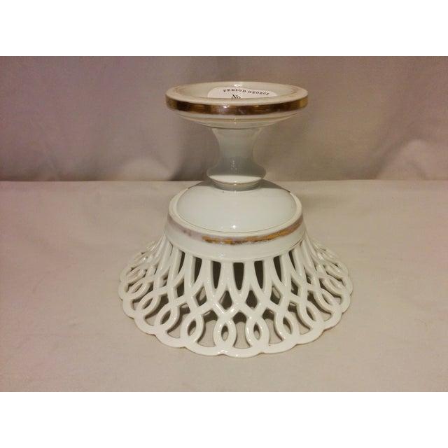 Antique Parisian White Porcelain Fruit Basket - Image 4 of 9