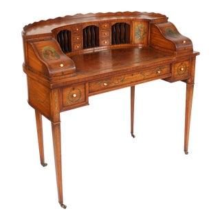 English Edwardian Carlton House Desk For Sale
