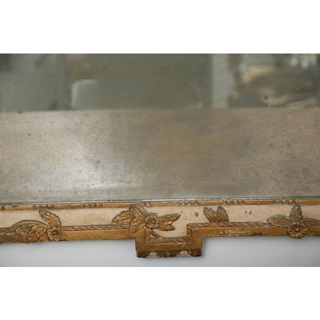 1970s 20th Century Louis XVI Style Parcel Gilt and Cream Painted Wall Mirror For Sale - Image 5 of 8