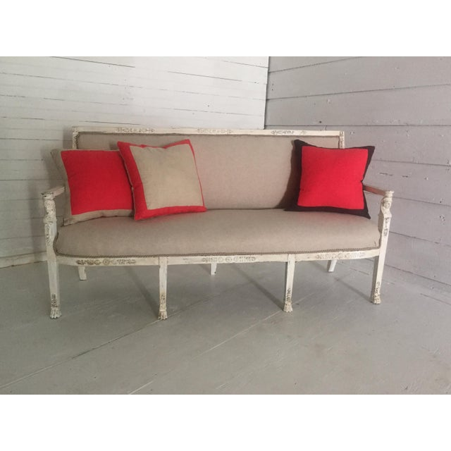 Antique French Neoclassical Setee - Image 7 of 8